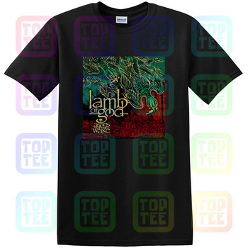 New Lamb of God Ashes of the Wake Album Cover Men's Black T-Shirt Size S-3XL