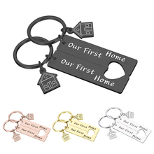 Our First Home Family Keychain Couples Key Chain Anniversary Valentine Day Gift Boyfriend Girlfriend Love Gift for Families