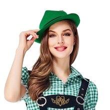 Женские Мужские красочные ленты Твердые фетровые шляпы немецкая традиционная шляпа Октоберфест сценические шляпы сомбреро германические шапки унисекс