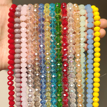 Glass Beads for Bracelets 3/4/6/8mm Faceted Multicolor Austria Crystal Round Loose Beads for Jewelry Making Diy Bracelet Strand