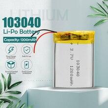 Литий-полимерная аккумуляторная батарея 3,7 в 1200 мА/ч 103040 для MP3, MP4, GPS, PSP, VR, DVR, DVD, мобильных игр, планшетов, внешних аккумуляторов