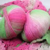 Lote de 50g de hilo multicolor para manualidades, tejido de bebé suave, bufanda de lana de 100% para bebé, ganchillo, venta al por mayor, lana artesanal