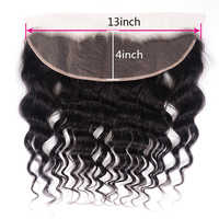 Unice Hair Brazilian Natural Wave Lace Frontal Ear to Ear 13X4 Pre Plucked 100% Human Hair Free Part Non Remy Free Shipping