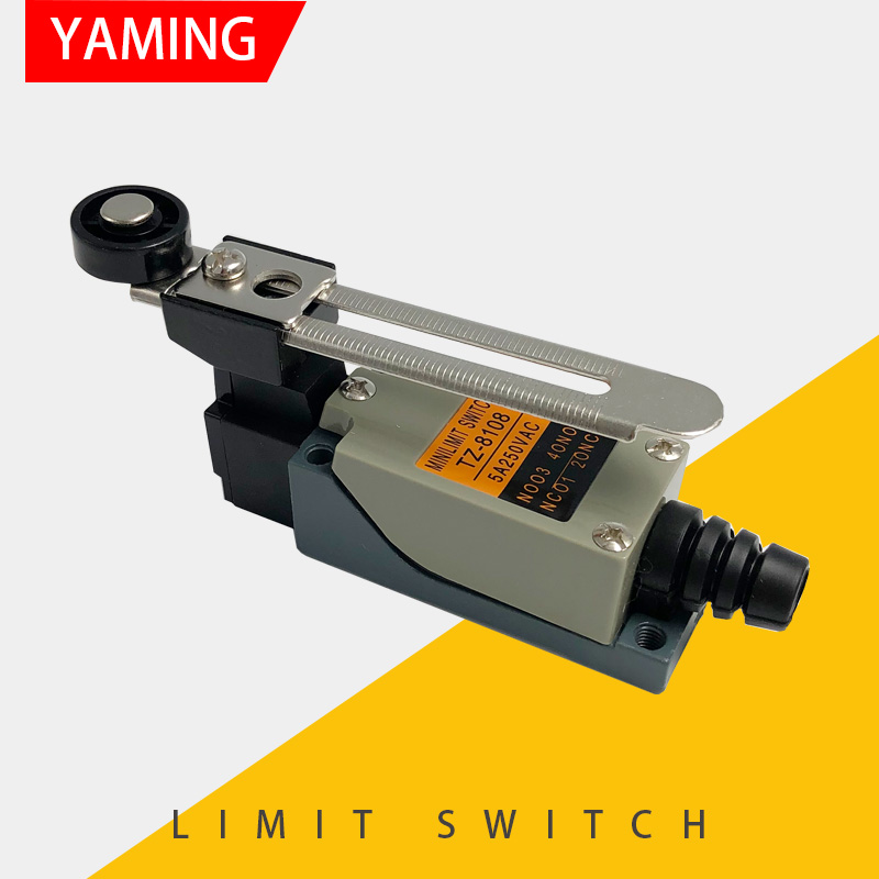 P141 Limit switch Rotary Adjustable Roller Lever Arm Mini Limit Switch Waterproof TZ-8108 Momentary Rotary switch
