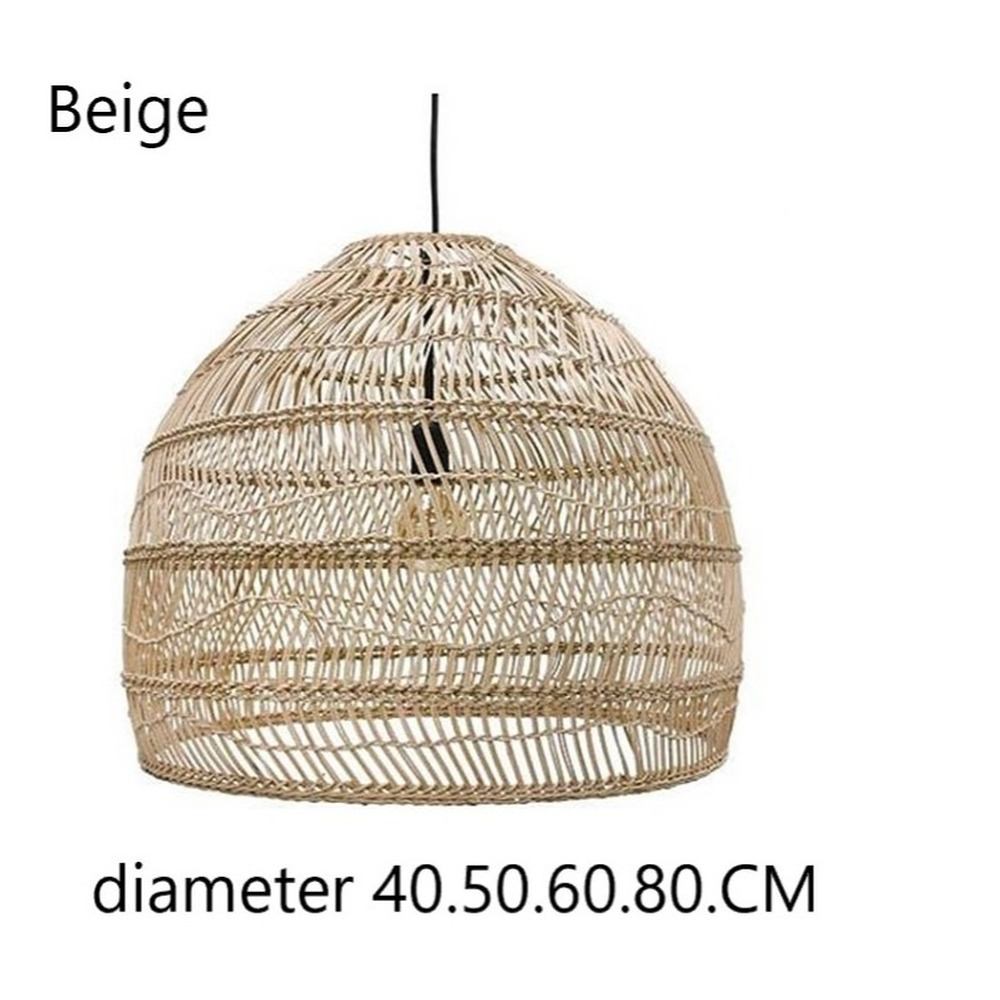 New Chinese Style Rattan Lamp Pendant Light Vintage Hanging Lamp E27 Living Room Dining Room Home Decor Cafe Restaurant Hanglamp