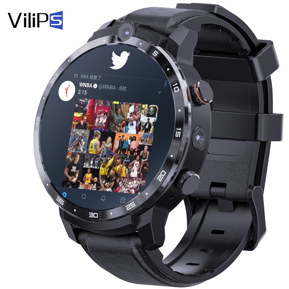 Vilips 4G Smart Watch Fitness Tracker WIFI Heart Rate Monitor 64GB GPS Phone Call Smartwatch With Camera for Man Woman