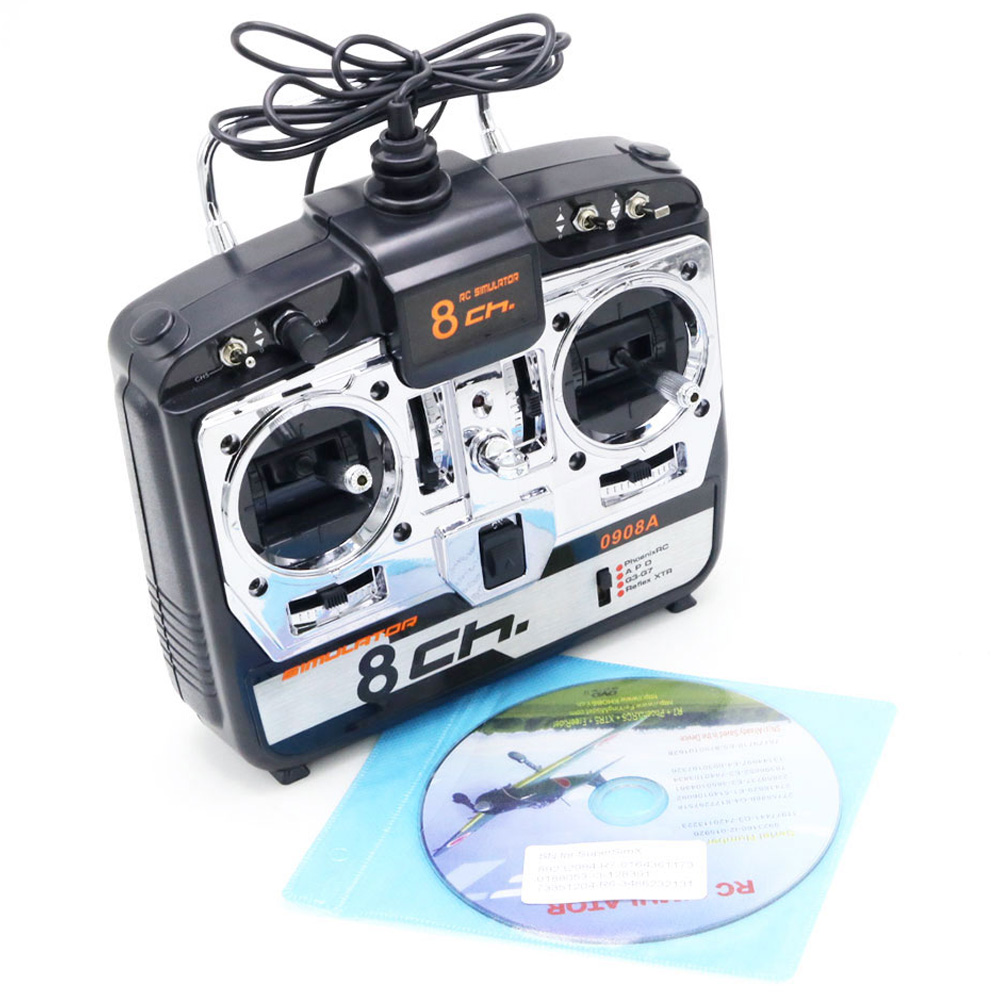 16 In 1 8CH Flight Simulator For Rc Helicopter Airplane FPV Racing Quadcopter Drone JTL0908A Mode 1 Or Mode 2