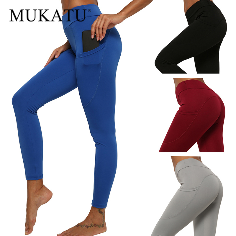 Bodybuilding Fitness Leggings For Women High Waist Workout Push Up Legging With Pockets High Waist Leggins Sexy Womens Pants