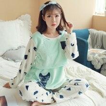 Для женщин пижамный комплект зимний средства ухода за кожей Фланелевая пижама, одежда для сна, уход за матерью из хлопка и льна платье Для женщин одежда для сна Беременность домашняя одежда для женщин