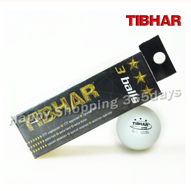 12 Balls/lot TIBHAR Original 3 Star 40mm Table Tennis Ball White Ping Pong Balls ITTF Approved Tenis De Mesa