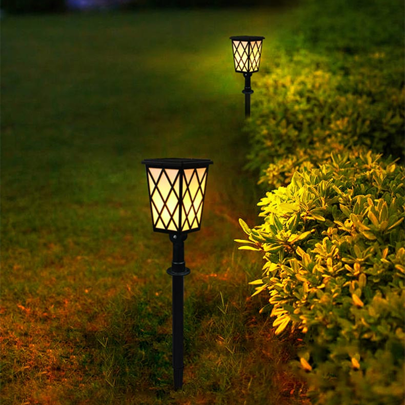 Solar Garden Light Flickering Flames Torches Lights Dusk To Dawn Auto On/Off Security Lamp For Patio Driveway Wall