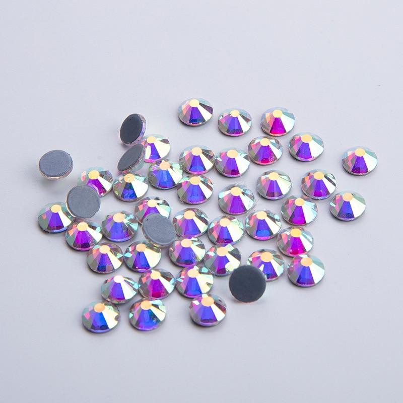 Hot ! 6*1440pcs=6bag / LOT SS20 (4.6-4.8mm) AB Color Hot Fix Stone/ Crystal Rhinestones Bulk Price Loose Rhinestone Hotfix