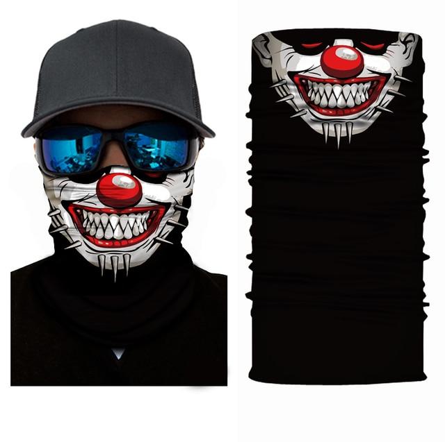 Fashion Motorcycle Face Mask Moto Balaclava Skull Mask Motor Scarf Halloween Panuelos Para Moto Face Shield Neck Warmer Headwear 2