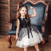 Vgiee Kids Dresses for Girls Knee-Length Mesh Fall Winter Style Little Girl Clothes for Party Wedding Princess Dress Baby CC621A new arrivals fall winter cartoon yellow mouse long sleeve dress baby kids girls boutique knee length milk silk match accessories