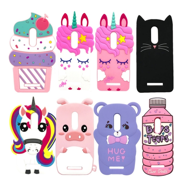 For Xiaomi Redmi Note 4 Case Note 4 X Cover 3D Unicorn Bear Cat Soft Silicone Case For Xiaomi Redmi Note 4X Note 4 Phone Cases