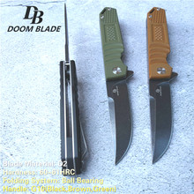 7.9″ 60-61HRC Knives Tactical KNIFE D2 Steel Blade G10 Folding Hunting Knife Handmade Survival Camping Outdoor Tool Knife