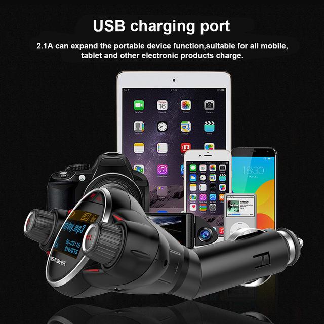 BT08 Wireless Bluetooth Car MP3 Player FM Transmitter AUX Audio Receiver