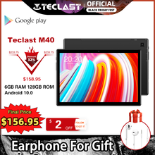 최신 10.1 인치 태블릿 Teclast M40 안드로이드 10.0 6GB RAM 128GB ROM Mali G52 3EE GPU 8MP 카메라 블루투스 5.2 4G 전화 통화 WiFi