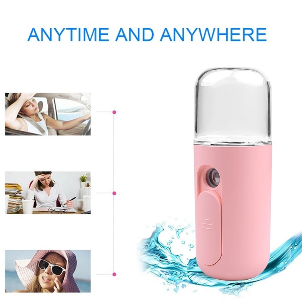 Portable USB Rechargeable Nano Mister Air Humidifier Cooling Handheld Mini Facial Steamer For Home Office Mist Maker Dropship