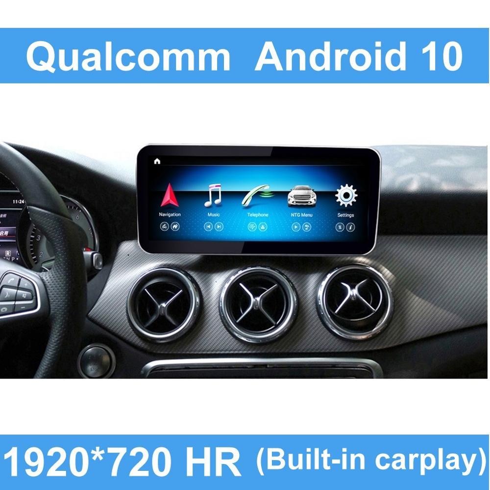 Android 10 qualcomm 8 core tela de toque multimídia player de exibição navegação bt gps para mercedes benz a cla gla classe 2013-2018