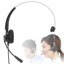 H500 VA السلكية سماعة رأس لمركز الاتصال مع ميكروفون الهاتف مشغل سماعة قابل للتعديل خدمة سماعة الاتصالات سماعة