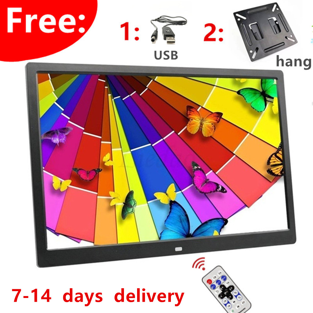 Good gift new 15 Inch LED Backlight HD 1280*800 Full Function Digital Photo Frame Electronic Album digitale Picture Music Video