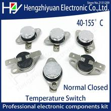 Hzy KSD301 250V 10A Normal Closed Temperature Switch Thermal Control 40C 50C 70C 80C 90C 100C 120C 130C 140C  150C Centigrade