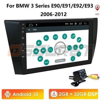 1 Din Android 10 Car Radio Stereo For BMW E90/E91/E92/E93 Multimedia Player Navigation GPS 1din NO DVD HeadUnit AM FM RDS DSP 4G image