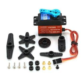 1pcs Digital Servo 20KG 180' Waterproof Metal Steering Digital Metal Gear Core Servo with High Torque for RC Car Boat Model Toy