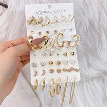 EN Offre Spéciale Or Géométrique Perle Boucles D'oreilles Pour les femmes 2021 nouvelle Mode Cercle Boucles D'oreilles Bijoux Femmes Déclaration De Mode Cadeaux