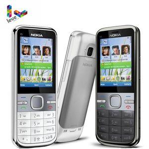 Оригинальный телефон Nokia C5, 3,15 дюйма, 5 Мп, поддержка Bluetooth, русская и иврит и арабская клавиатура, Восстановленный разблокированный телефон