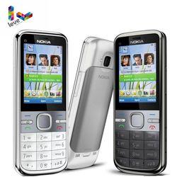 Nokia C5 Original Nokia C5-00 C5-00i 3.15 & 5MP Bluetooth Apoio Teclado Russo & Hebraico & Árabe Remodelado Desbloqueado Móvel telefone