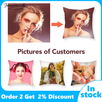 Fuwatacchi Design Picture Here Print&Pet&Wedding Personal Life Photos Customize Gift Home Cushion Cover Pillowcase Pillow Cover fuwatacchi design picture here print