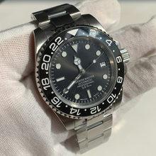 Bracelet de montre NH35 40mm, mouvement automatique, miroir saphir lumineux vert