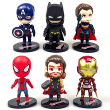6pcs Avengers Cake Topper Cake Decorating Super hero Feestartikelen China Cadeaus voor Kids Party Super hero es Verjaardag cake Topper(China)
