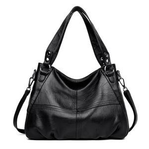 Image 2 - Moda hakiki deri çanta bayanlar büyük kapasiteli tasarımcı büyük Tote çanta kadınlar için lüks omuzdan askili çanta bayan çanta