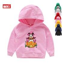girls Hoodies halloween costume  Sweatshirts Kitty Mickey Minne Pumpkin Children Tops Baby Boy Cartoon Cute