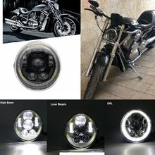 2021 neue LED DRL SCHEINWERFER Motorrad Scheinwerfer Halo Ring Für V Stange VROD VRSCA VRSC V Rod Muscle, screamin Adler CVO V Rod