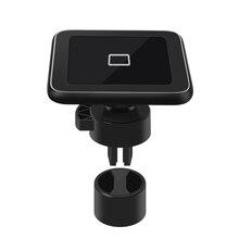 Indução carregador de carro sem fio usb montagem para iphone 11 samsung s8 s9 suporte do telefone carregamento carro qi 10 w carregamento rápido sikai