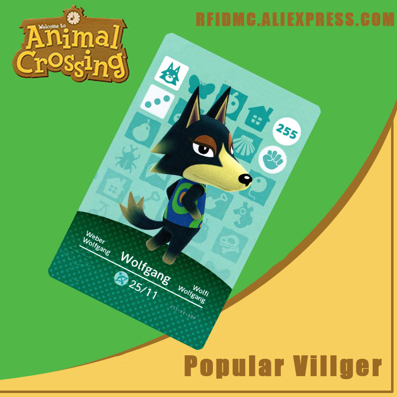 255 Wolfgang Animal Crossing Card Amiibo For New Horizons