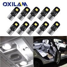 Oxilam 10x t10 w5w led canbus para nissan patrol y61 navara d40 gtr sentra folha almera n16 auto conduziu a luz interior lâmpada de leitura