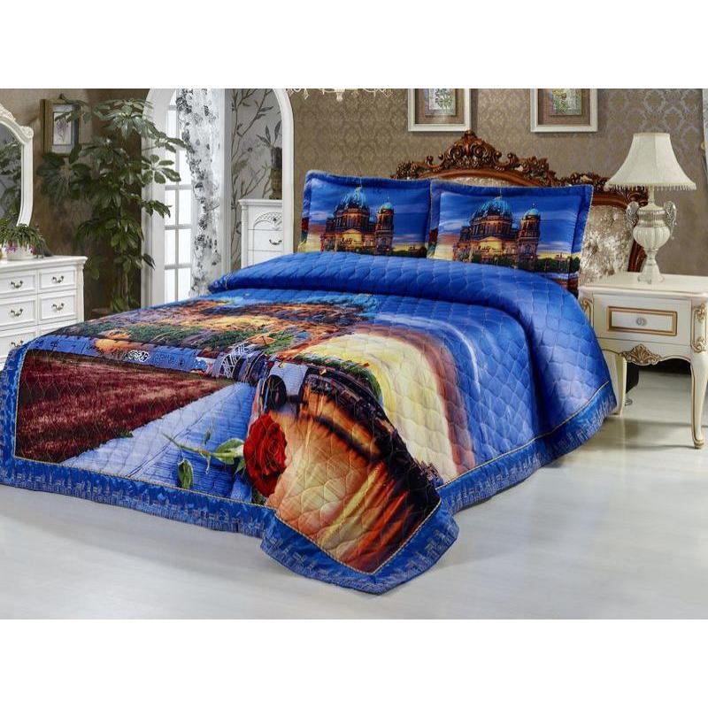 Bedspread euro Tango, 2001-857, 220*240 cm, with наволочками bedspread ethel silk freshness size 220 240 cm faux silk 100% n e