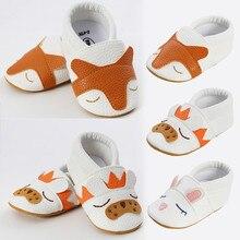 Детские осенние мягкие ползунки из искусственной кожи с лисьим кроликом для маленьких мальчиков и девочек; chaussure de bebe; Размеры 0-18 м