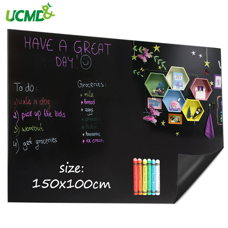Magnetic Blackboard Wall Decor Stickers Holding Magnets Flexible Chalk Blackboard For Kids Learning Writing Painting 150*100 Cm