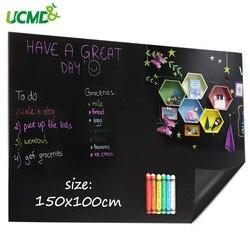 Pizarra para pared magnética, pegatinas decorativas, imanes de sujeción, pizarra de tiza flexible para niños, pintura de aprendizaje de escritura 150*100 cm