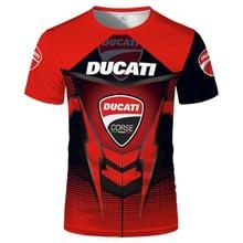 Verão 2021 nova ducati camiseta camisola de manga curta topo em torno do pescoço racecar legal oversized de secagem rápida esportes topos