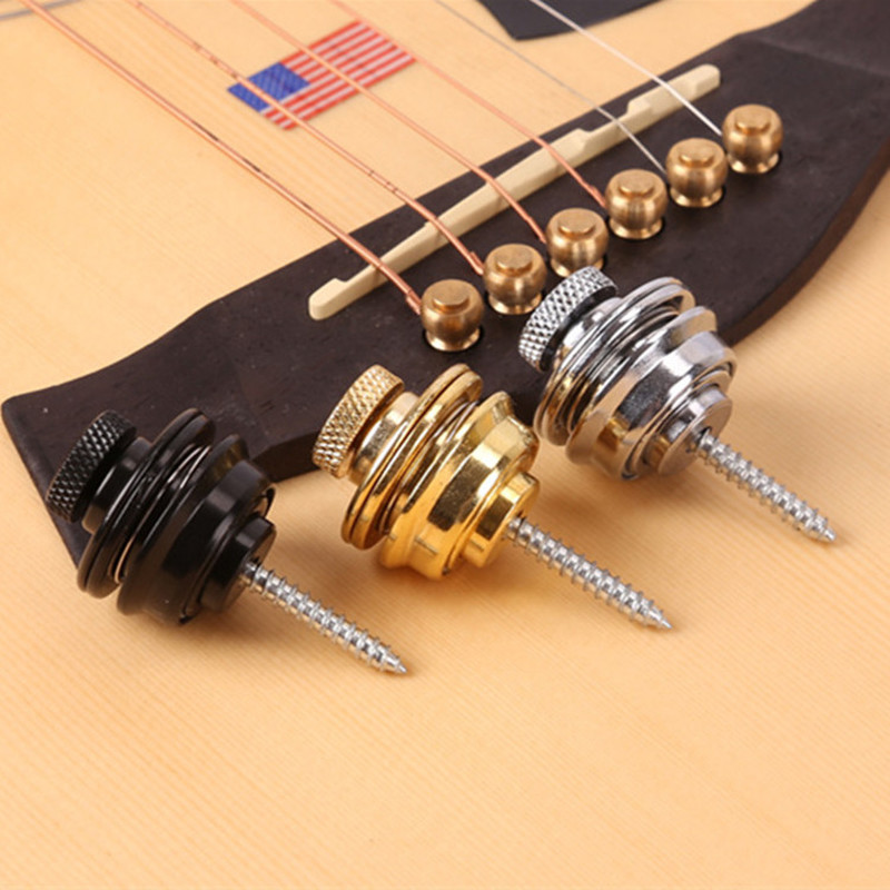 Guitar Strap Lock Strap Lock Straplock Button For All Acoustic Electric Bass Guitar Accessories Strap 3 Colors Guitarra