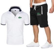 Camiseta informal de verano para hombre, Conjunto de camiseta con estampado de Harajuku y pantalones cortos de estilo