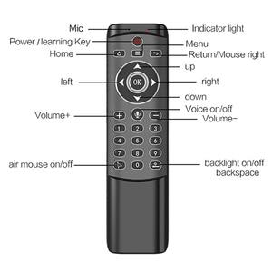 Image 2 - MT1 الخلفية الدوران اللاسلكية يطير ماوس هوائي 2.4G الذكية صوت التحكم عن بعد ل X96 mini H96 ماكس X2 مكعب تي في بوكس أندرويد vs G20S G30