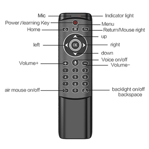 Image 2 - MT1 retroilluminato Gyro Wireless Fly Air Mouse 2.4G telecomando vocale intelligente per X96 mini H96 MAX X2 CUBE Android TV Box vs G20S PRO